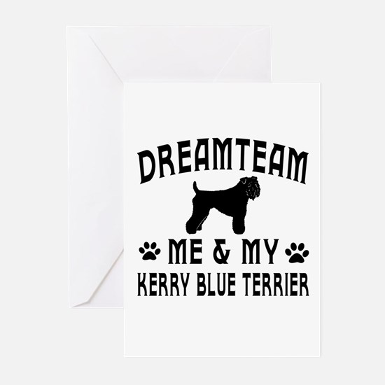 Kerry Blue Terrier Dog Designs Greeting Cards (Pk