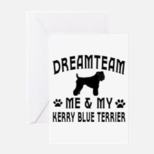 Kerry Blue Terrier Dog Designs Greeting Card
