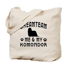 Komondor Dog Designs Tote Bag