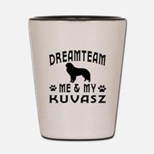Kuvasz Dog Designs Shot Glass
