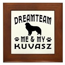 Kuvasz Dog Designs Framed Tile
