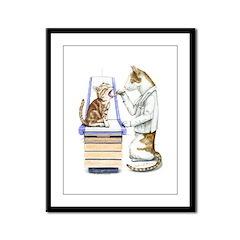 Doctor Cat Framed Panel Print