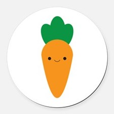 Carrot Round Car Magnet