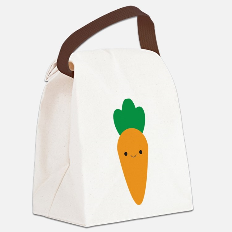 Carrot Canvas Lunch Bag