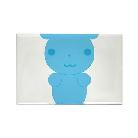 Gummi Bear - Blue Rectangle Magnet (10 pack)