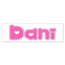 """""""Dani"""" Bumper Bumper Sticker"""