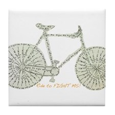 Ride to FIGHT MS! Tile Coaster