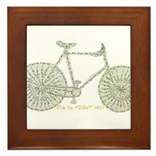 Ride to FIGHT MS! Framed Tile