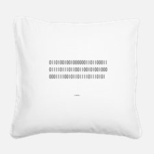 Binary Code (I love you) Square Canvas Pillow