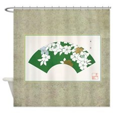 Japanese Fan Shower Curtain