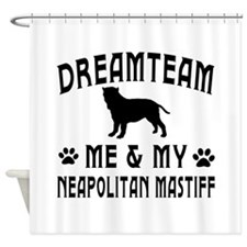 Neapolitan Mastiff Dog Designs Shower Curtain