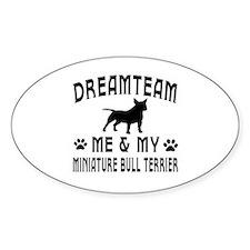 Miniature Bull Terrier Dog Designs Decal