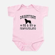 Newfoundland Dog Designs Infant Bodysuit