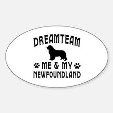 Newfoundland Dog Designs Decal
