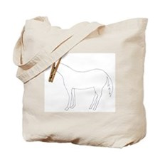 Horse with cloths pin head Tote Bag