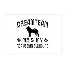 Norwegian Elkhound Dog Designs Postcards (Package