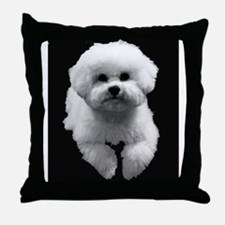 Beau in Black Throw Pillow
