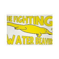 water beaver Rectangle Magnet