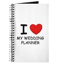 I Love wedding planners Journal