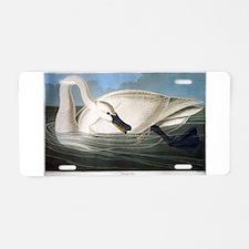 J J Audubon - Swan Aluminum License Plate