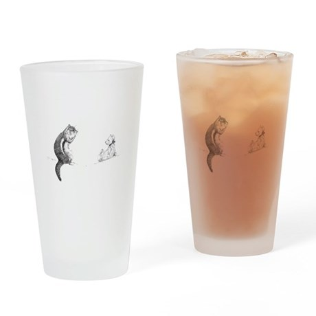 Chipmunk and bear Drinking Glass
