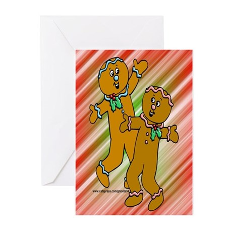 Gingerbread People Greeting Cards (Pk of 10)