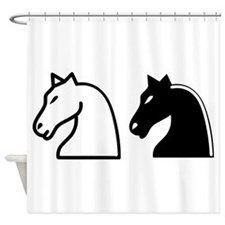 Chess Knights Shower Curtain