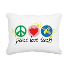 Peace-Love-Teach.png Rectangular Canvas Pillow