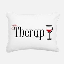 Wine-My-Therapy.png Rectangular Canvas Pillow