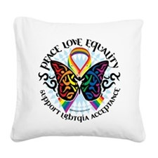 LGBTQIA-Butterfly-Tribal.png Square Canvas Pillow