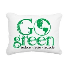 Go-Green.png Rectangular Canvas Pillow