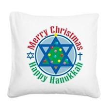 Christmas-Hanukkah.png Square Canvas Pillow