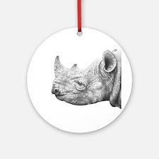 Black Rhino Ornament (Round)
