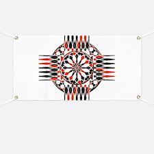 Geometric celtic cross Banner