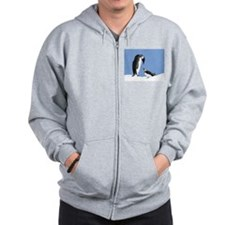 Penguin and puffin Zip Hoodie