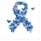 Colon cancer butterfly 5.25 x 5.25 Flat Cards