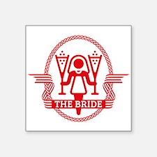 """The Bride (Red) Square Sticker 3"""" x 3"""""""