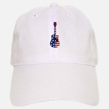 USA Guitar Baseball Baseball Cap