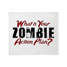 Zombie Action Plan Throw Blanket