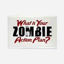 Zombie Action Plan Rectangle Magnet