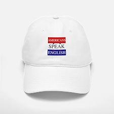 Americans Speak English Baseball Baseball Cap