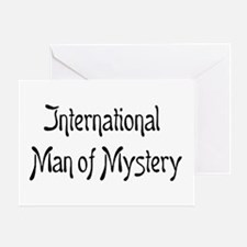 mystery man Greeting Card