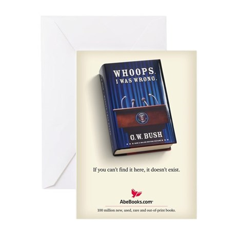 """""""Whoops, I Was Wrong"""" Not-Book Cards (6)"""