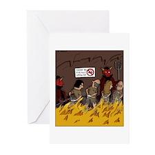 hellsmoking2CLR Greeting Cards