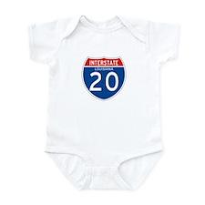 Interstate 20 - LA Infant Bodysuit