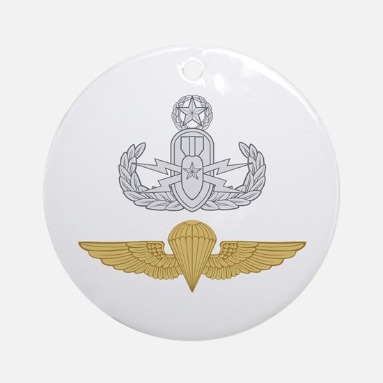 Master EOD Parachutist Ornament (Round)