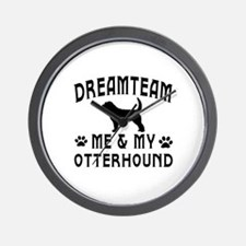 Otterhound Dog Designs Wall Clock