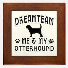 Otterhound Dog Designs Framed Tile