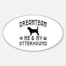 Otterhound Dog Designs Sticker (Oval)