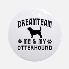 Otterhound Dog Designs Ornament (Round)